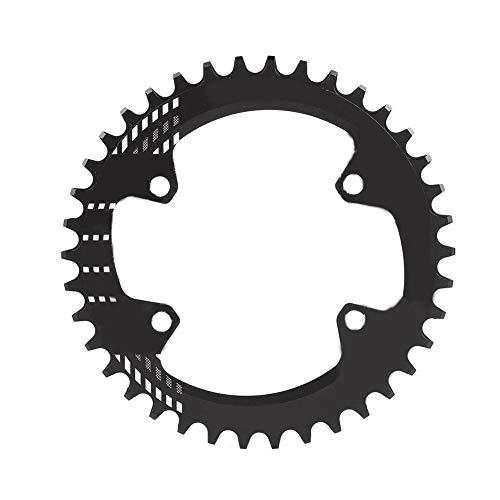 Plato de Bicicleta de Montaña,96 mm BCD 32T 34T 36T 38T Plato Ancho Estrecho Anillo de Cadena de Bicicleta Plato de Aluminio Solo Plato Sram Compatible M6000 M7000 M8000 Shimano MTB BMX(34T-Negro)