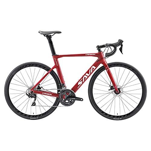 SAVADECK Bicicletas de Carretera, Bicicletas de Carbono de 700C, con Freno de Disco Shimano 105...*