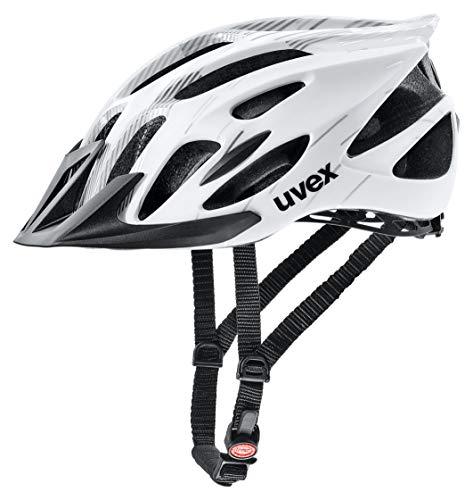 Uvex 4109660215 Casco Ciclismo MTB, Unisex Adulto, Blanco/Negro, M*