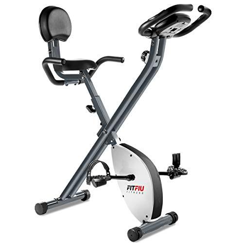 Fitfiu Fitness BEST-220 - Bicicleta Estática plegable con respaldo regulable, Pulsómetro y volante...*