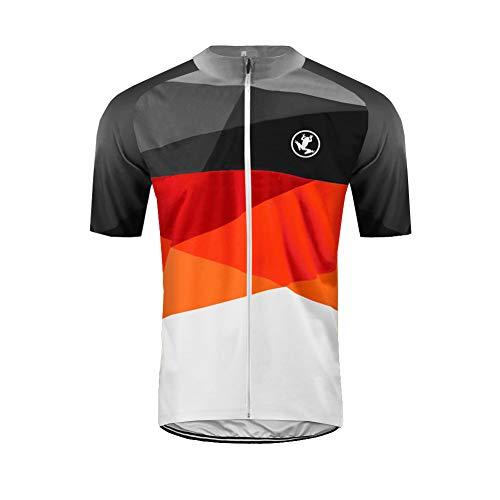 UGLY FROG Uglyfrog Ciclismo Hombres Maillots de Bicicleta Jersey de Ciclismo de Visibilidad Extrema, de Manga Corta, Ajuste Slim Fit, Camiseta de MTB