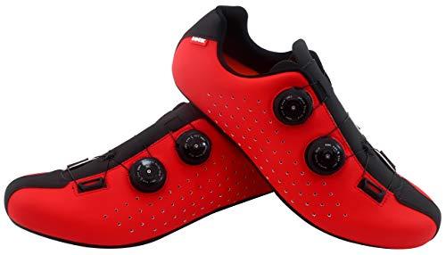 LUCK Eris, Zapatillas de Ciclismo de Carretera Unisex Adulto, Rojo, 40 EU
