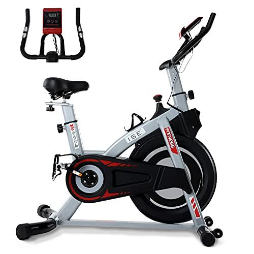 ISE Bicicleta Estática de Interior con Resistencia Ajustable, Peso de Inercia de 8KG con Sensor de...*