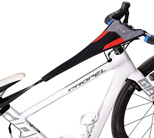 Bicicleta Entrenador Rodillo Sudor Neto Cubrir Cuadro Guardia Correa Absorbe Sudor (A)