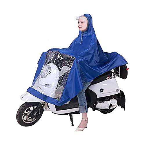CJBIN Chubasquero Bicicleta, Poncho Impermeable para Bicicleta con Tapa Transparente, Chubasquero Ciclismo, Poncho de Lluvia Ciclismo, para Mochileros de Camping al Aire Libre