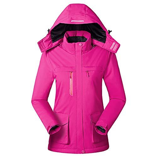 Chaqueta térmica para mujer – Impermeable y resistente al viento chaquetas de calefacción para montar en bicicleta y motocicleta, pesca, esquí, arado de nieve, B, 2XL