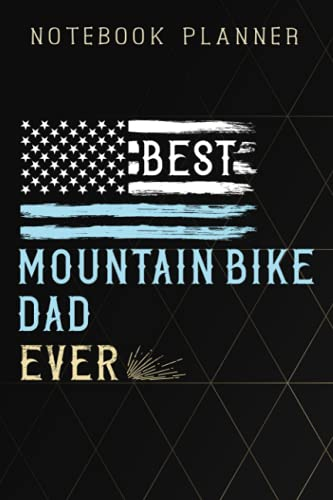 Notebook Planner Mens Best Mountain Bike Dad Ever Vintage MTB funny: 6x9 in ,Life,Paycheck Budget,Planning,To Do List,Meal,Meeting,Tax,Finance