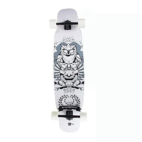 Patineta Deportiva de Cuatro Ruedas Longboard Skateboard Doble para Adultos Maple Street Travel Dance Board Principiante, Regalo de tótem