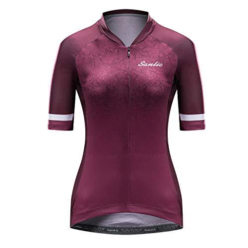 Santic Maillot Ciclista Mujer Top Ciclismo Bicicleta Bici Transpirable Secado Rápido Reflectante...*