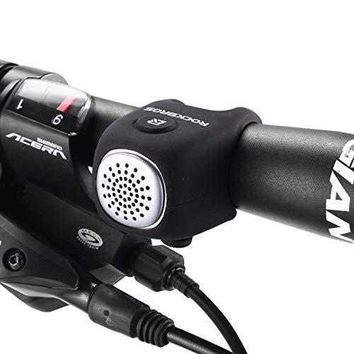 ROCKBROS Timbre Bicicleta Electrónico Mini E-Bell Impermeable para Patinete MTB 3 Sonidos Accesorio para Ciclismo