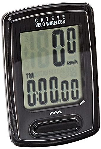 CatEye Negro COMPUTADORA Velo Wireless, Adultos Unisex, Medio*