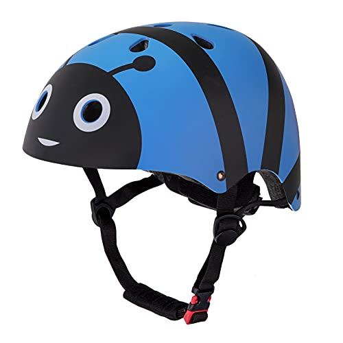 Casco Bicicleta Niños Protección de Cabeza de Seguridad de Dibujos Animados para Niños de 3-6 y...*
