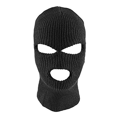 Bweele OTentW Máscara de la Cara Completa Máscara de Punto de pasamontañas de 3 Agujeros Sombrero...*