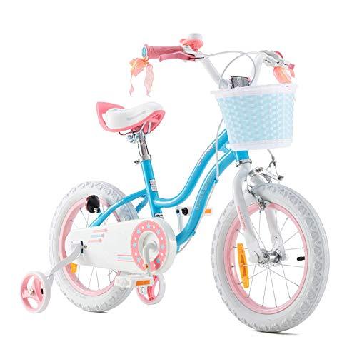 RoyalBaby Bicicleta de Niño niña Stargirl Ruedas auxiliares Bicicletas Infantiles Bicicleta para...*