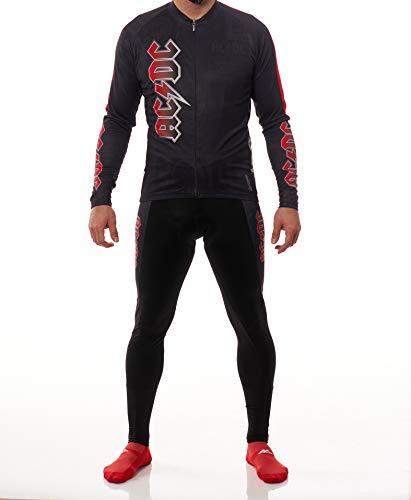 Manzur Cycling Design Conjunto Ciclismo Maillot Culotte ACDC Largo (XL)*