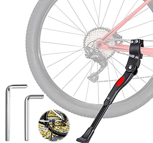 Pata de Cabra para Bicicleta, Altura Ajustable del Retroceso Bici Caballete, con pie Goma AntideslizantePata de Cabra de la Bicicleta aleación