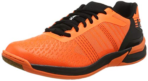Kempa Attack Three Contender, Zapatillas de Balonmano Unisex Adulto, Naranja (Orange Frais/Noir 06), 45 EU