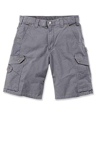Carhartt Herren Shorts Ripstop Work Short Grau Gravel W30*