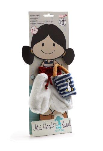 NICI - Wonderland, Traje de baño con bolsito para muñeca (34939)