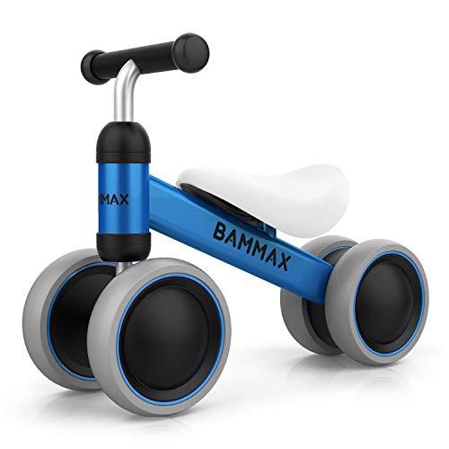 Bammax Bicicleta sin Pedales, Bici sin Pedales Niño, Juguetes Bebes 1 Año, Triciclos Bebes, Correpasillos Bebes 1 Año, Azul