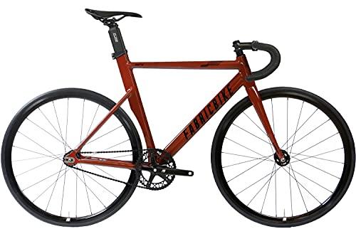 FabricBike Aero - Bicicleta Fixed, Fixie, Single Speed, Cuadro de Aluminio y Horquilla de Carbono,...*