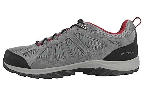 Columbia Redmond III Waterproof, Zapatillas para Caminar Hombre, Ti Gris Acero Negro, 43 EU