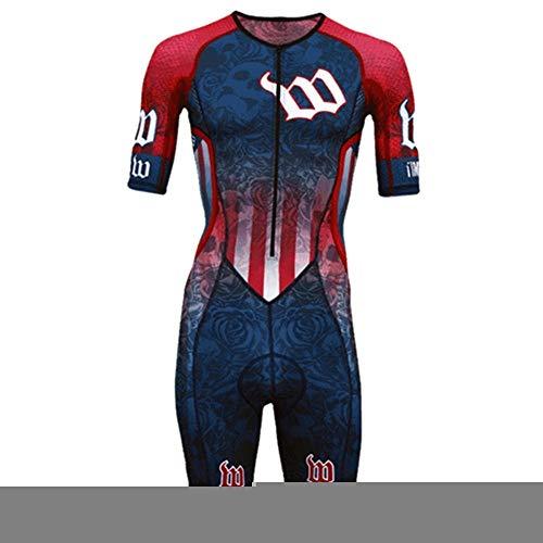 NHGFP QPM Jersey De Triatlón Skinsuit Vestimenta De Ciclismo Salpicaduras Hombre En Bicicleta Conjunto De Cuerpo Juego De Los Deportes De Velocidad MTB Mono (Color : 1, Size : XXS)