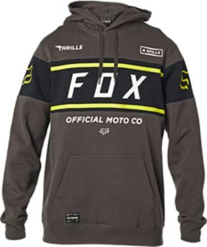 Fox Racing Sudadera de forro polar oficial estándar para hombre, grande, color gris