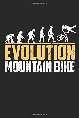 Evolution Mountain Bike Notebook: Dot Grid Notebook (6x9 inches) with 120 Pages