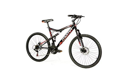 Moma Bikes Bicicleta Montaña HIT 26', SHIMANO 21V, Doble Freno Disco, Full Suspension
