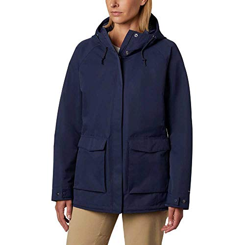 Columbia South Canyon Chaqueta Impermeable, Mujer, Azul (Nocturnal), L