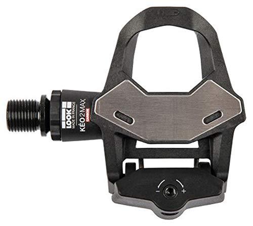 LOOK Cycle - Pedales de Bicicleta KEO 2 MAX Carbon - Gran Superficie de Contacto 500mm² - Transferencia Total de Potencia - Pedales UltraLigeros, Cuerpo Carbon - Tensión Ajustable