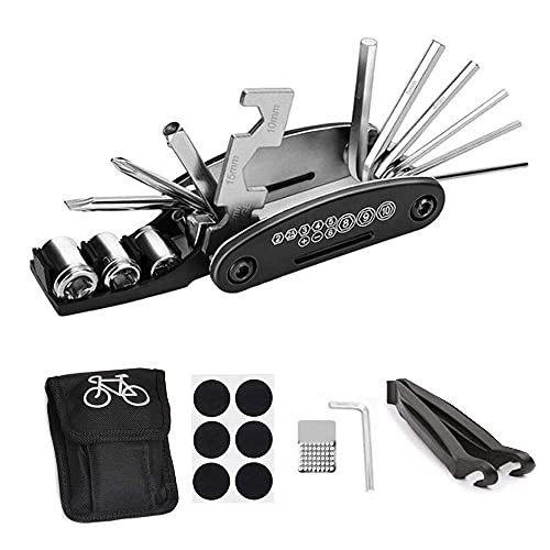 Anyasen Kit Reparacion Bicicletas 16 en 1 Multifunción para Bicicletas Kit de Herramientas para...*