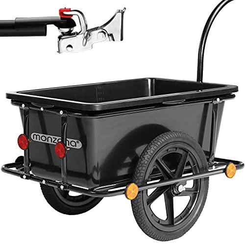 Remolque de bicicleta con 90litros de capacidad (plástico, Incluye Enganche)