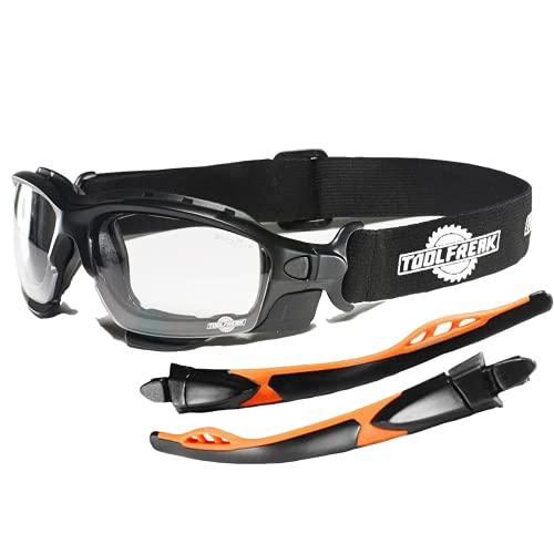 """Gafas protectoras de diseño """"spoggles"""" de primera calidad ToolFreak   La combinación perfecta de gafas de seguridad y gafas de diseño (Spoggle - transparente)"""