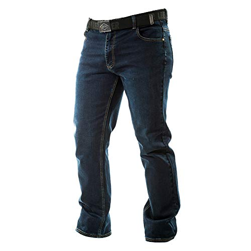 Lee Cooper, Ropa para hombre de seguridad en el trabajo de estiramiento de 5 bolsillos Denim Jeans Pantalones, armada, larga 32w