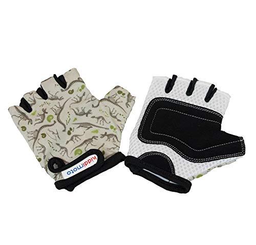 KIDDIMOTO Guantes de Ciclismo sin Dedos para Infantil (niñas y niños) - Bicicleta, MTB, BMX, Carretera, Montaña (M (5-8 años), Fósil)