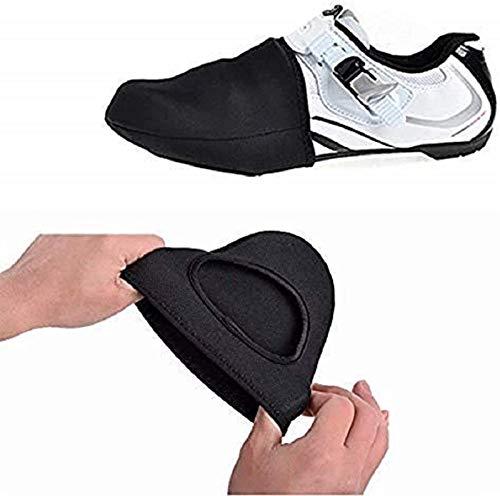 2 Pares De Protectores Térmicos para Los Dedos del Pie De Ciclismo para Hombres Y Mujeres, a Prueba De Viento para Zapatos De Ciclismo De Montaña, Tamaño Adecuado (UE) 39-44 Sin Cuerda