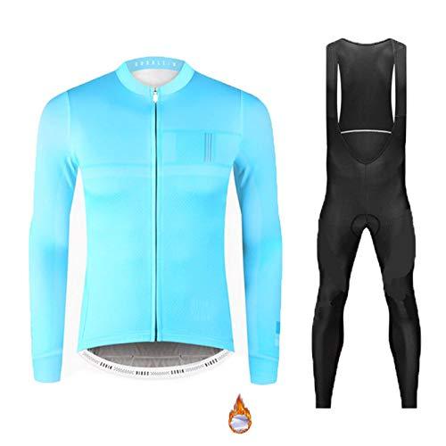 Polar Térmico de Invierno Maillot de Ciclismo, Ropa de Bicicleta MTB para Hombre con Pantalones con...*