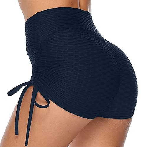 Yutdeng TIK Tok Pantalones Cortos Mujer Yoga Leggings Mallas Cortas Push Up Ajuste con Cordón...*