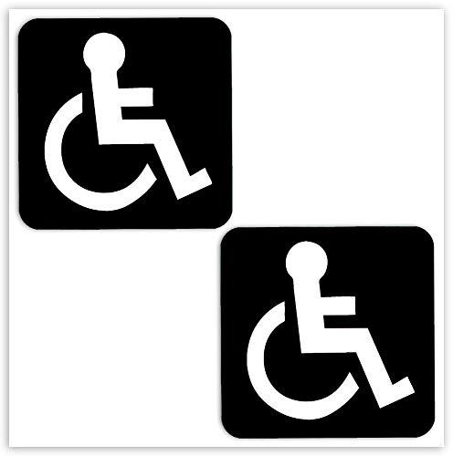 Biomar Labs® 2 pcs Pegatinas Pegatinas Discapacitado Minusválido Vinilo Adhesivo Autos Coches...*
