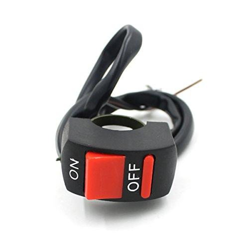 LEORX Moto manillar Monte peligro luz ON/OFF interruptor botón*