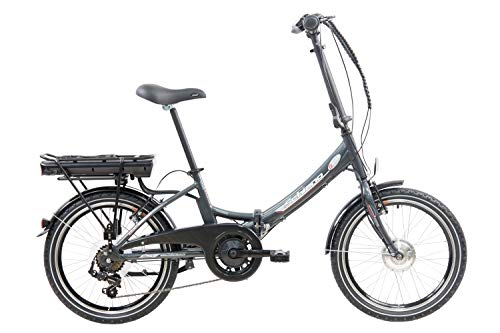 F.lli Schiano E- Star Bicicleta eléctrica, Adultos Unisex, Antracita, 20'