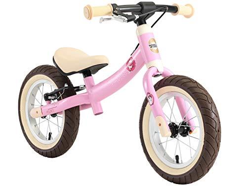 BIKESTAR 2-en-1 Bicicleta sin Pedales para niños y niñas 3-4 años   Bici con Ruedas de 12' Edición Sport   Rosado