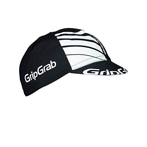 GripGrab Gorra Ciclismo Clásica Estilo Retro de Algodón Bicicleta Carretera, MTB y Gravel Negro, Blanco y Azul Calentadores Babeza, Adultos Unisex, Talla Única