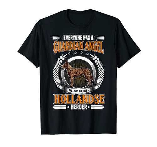 Hollandse Herder Ángel guardian Perro pastor holandés Camiseta