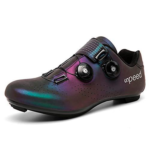 Gogodoing Zapatilla de Ciclismo Profesional Hombre Zapatos de Ciclismo de Antideslizantes SPD Lock...*