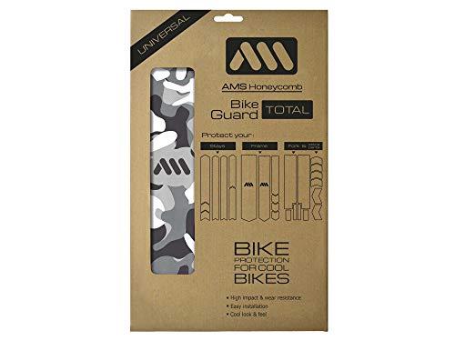 All Mountain Style Protector de Cuadro Total – Protege tu Bicicleta de Las rayadas y los Golpes, Transparente/Camo posibles arañazos, Unisex-Adult