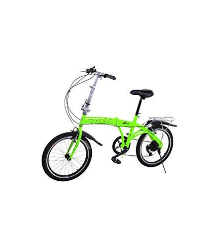 Riscko Bicicleta Plegable Metric Verde Fluor con 7 Velocidades Manillar y Sillín Ajustables*