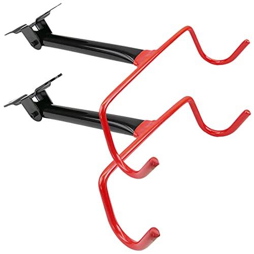 PrimeMatik - Soporte de Pared con Gancho Plegable para Colgar Bicicleta 2-Pack